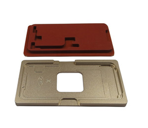 New High Quality Glass with Frame LCD Alignment Mold + OCA Lamination Rubber Pad Red Foam Mat For iPhone X