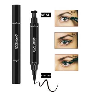 2018 yeni Sıvı Eyeliner Damga Kalemler Uzun Ömürlü su geçirmez Eyeliner damga mühür siyah renk ile çift uçlu