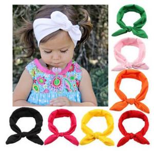 Niñas bebés Conejito Orejeras Diademas Arcos Elásticos Bowknot Diademas Niños Accesorios para el cabello Banda para el cabello Kids Turban Knot Headbands Headwear 60 pcs