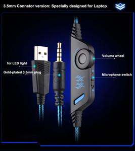Yeni Ucuz Kotion Her G9000 Gaming Headset Kulaklık 3.5mm Stereo Jack için Mic ile LED Işık PS4 / Tablet / Dizüstü / Cep Telefonu DHL