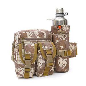 Tactical Molle Bolsa Impermeable Cámara de la cintura Paquete Senderismo Pesca Deportes Caza Bolsas de Cintura Acampar Deporte PUBG Army Bag Belt WX049