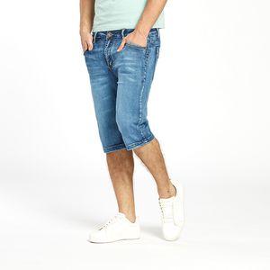 Straight Mens Summer Stretch Lightweight Thin Denim Jeans Short para hombres Jean Shorts Pants Plus Size