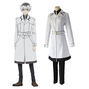 Costume di Halloween Anime Tokyo Ghoul Re Sasaki Haise Kaneki Ken vestito completo Cappotto Costume cosplay