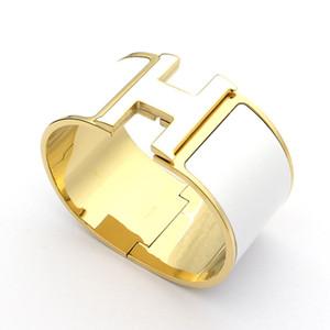 316L титана стали панк браслет шириной 33мм с разноцветной эмалью, для мужчин и женщин браслет в размере 5,9 * 4.6cm браслет ювелирные изделия подарок свободный ши