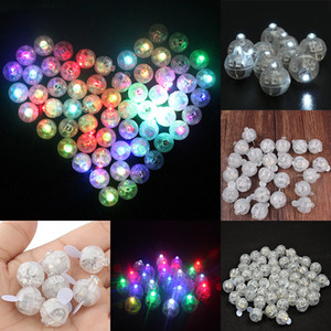 LED Balon Işık Mini Yuvarlak Şekil Parlayan Işık Kağıt Fener Doğum Günü Düğün Noel Bar Parti Dekorasyon Malzemeleri WX9-708