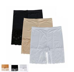 새로운 하이 엔드 여성 Intimates 여성 섹시한 패션 중반 허리 Elastic Widen 레이스 Safety Short Pants 레이디 통기성 팬티