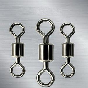 Style américain 8 mot anneau roulement à billes émerillons avec anneaux fendus connecteur de la carpe marchandises de pêche forte traction force 0 1hm W