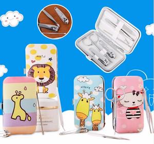 Горячая 7 шт. милый педикюр маникюрный набор кусачки для ногтей очиститель кутикулы уход Kit Case бесплатная доставка