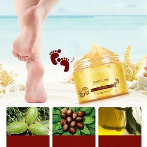BIOAQUA 24K GOLD Shea Butter Massage Cream Peeling Renewal Mask Baby Foot Skin Smooth Care Cream Exfoliating Foot Mask 3006076