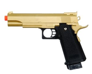 GOLD METAL M 1911 Pistola Airsoft TAMAÑO COMPLETO A1 Pistola de resorte con 6 mm BB BBs