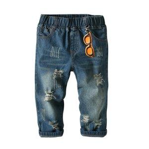 2018New Design Boy's Pants Moda de alta calidad para niños Jeans Cotton100% Solid Leisure Pant Kid Ropa Y18103008