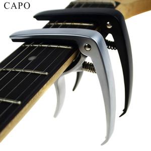 Nueva guitarra acústica y guitarra eléctrica capo plata y negro modelli accessori di alluminio guitarra partes Accessori