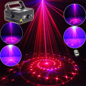 미니 3 렌 24 RB 레드 블루 패턴 프로젝터 무대 조명 3W 블루 LED 믹싱 효과 DJ KTV 쇼 휴일 레이저 무대 조명 L24RB