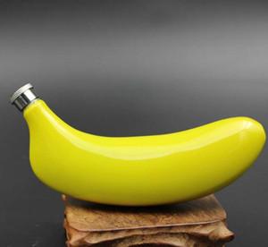 5 oz Banana Shaped Hip Flask Inox 304 Fruit Copos Whisky Liquor Bottle Bar Pot Wine NO Funnel nt