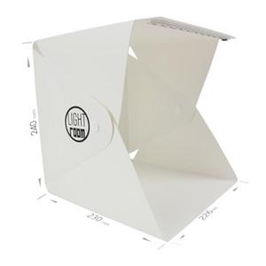 Nuevo portátil plegable Lightbox Fotografía Studio Softbox LED Light Soft Box DSLR Cámara Foto de fondo