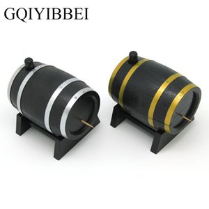 GQIYIBBEI Creative Household Wine Barrel Plastic Craft Ornaments Automatic Toothpick Box Container Dispenser Holder Popular
