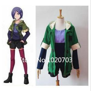 ¡Nuevo! Anime Tokyo Ghoul Touka Kirishima Cosplay disfraz verde con capucha