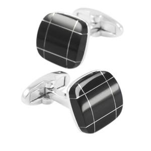 SAVOYSHI Black Stone Bottons pour Hommes avec Box Shirt Cuff Bottons Boutons de Manchette Carrés Gros Mariage Cadeau D'affaires Hommes Bijoux