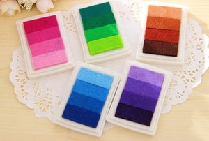 DHL Free shipping 100pcs ink pad color gradual change inkpad for stamp
