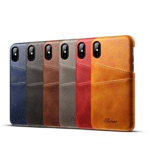 Slim Capa de Couro PU para iPhone 12 Mini 11 Pro Max x XR XS 8 7 6 6 PLUS PLA CASA LUXO Capa de volta Cartão Titular Carteira Telefone Celular Telefone Coque