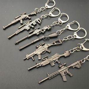 2018 горячая игра 16 стили PUBG CS GO оружие брелки AK47 пистолет модель 98K снайперская винтовка брелок кольцо для мужчин подарки сувениры 6 см
