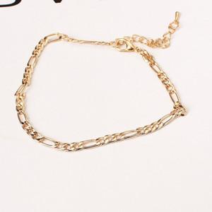 Europeu e americano comércio exterior moda jóias simples e versátil cadeia de metal senhoras tornozeleira