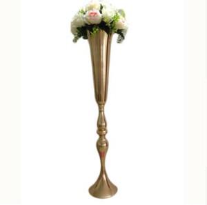 Elegante metallo 88 centimetri alto Sparking oro vaso da fiori da sposa centrotavola decorazione di cerimonia nuziale fiore stand alti vasi