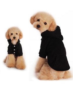 Pequeno Cão Roupas Cachorro Hoodies Hkim Algodão Macio Pet Poodle Roupas com Bolso Moda Camisola de Lã Filhote de Cachorro Camisola