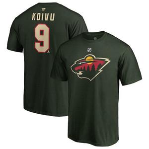 MINNESOTA WILD T-SHIRTS Dubnyk Parise Suter Brodin Staal Koivu custom name AND number hockey shirt