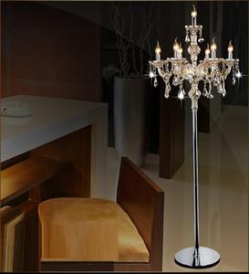 Moda moderna de cristal lâmpada de assoalho luzes da sala de estar quarto lâmpadas de cristal francês moderno stand luzes de cristal abajur cristal