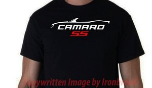 CAMARO CONVERTIBLE RS SS Camiseta Car Silhouette 6th Generation 2016 2017 2018