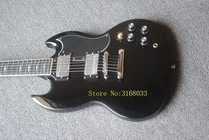 Nueva venta caliente Modelo Clásico Mejor Servicio de Guitarra eléctrica en negro Color Angus Young Style Guitarra eléctrica disponible, venta caliente guitarra