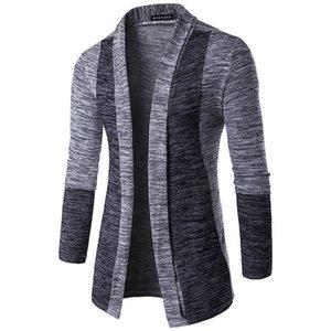 Männer langärmelige Pullover britischen Retro Stitching Cardigan männliche Großhandels Pullover Mäntel dünne beiläufige Art und Weise Männer Pullover Qualität Tops