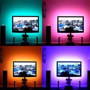 1 M-5 M DC 5 V RGB Flexible USB led tira de luz 5050 SMD sting IP20 cinta adhesiva cinta TV iluminación de fondo
