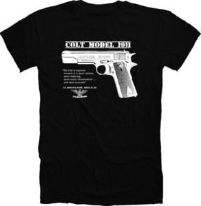2018 Venda Quente Original Nos Exército Colt 45 1911 Pistola Wwii / Wwi T Camisa Trigger Segurança Apertos Camiseta