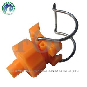 Регулируемые распылительные насадки с шариковыми ушками, PP Пластиковые насадки для зажима труб