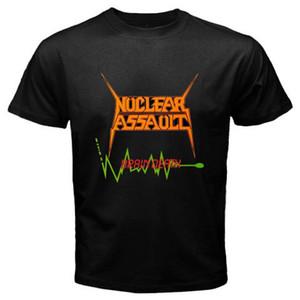 Assalto Nuclear Morte Cérebro'86 Lixo Banda de Metal dos homens T-shirt Preto Tamanho S-3xl Imprimir Camiseta Homens de Manga Curta