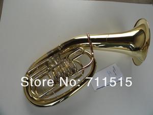 Envío gratis Sparkly 4 clave Bb / F Flat Brass Gold Lacquer Cuerno francés Instrumentos de viento profesional French Horn con estuche