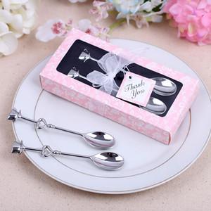 Fancy Heart Shaped Love coffee tea measuring Spoon Wedding decorazione amante regalo in acciaio inox stoviglie da tavola set NA018