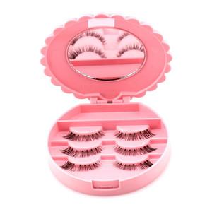 NEUE 1 STÜCK Acryl Nette Bogen Falsche Wimpern Eye Lashes Aufbewahrungsbox Make-Up Kosmetikspiegel Fall Veranstalter