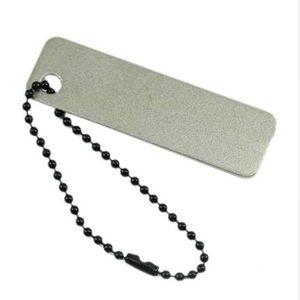 جيب سكاكين المطبخ مبراة مع سكين سلسلة المفاتيح الماس شحذ الحجر مبراة سكين 1PC