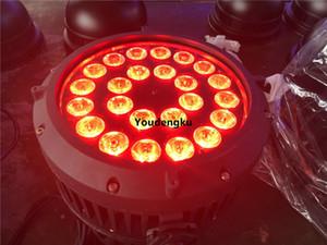 12 قطعة 6 in1 rgbwa uv ip65 led par light 24x18 6in1 led par في الهواء الطلق رباعية led الاسمية علب