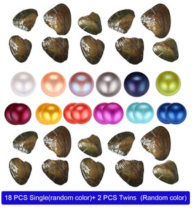 Wholesale 25 color natural Freshwater Whole Pearls Oyster,Mixed color Freshwater pearl vacuum packaging Whole Oyster Shell free shipping