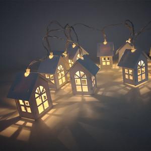 Eko Dostu 1, 5 milyon 10pcs Noel Tree House Stil Peri Işık Led dize Düğün Natal Garland Yılbaşı Noel Süsleri Led