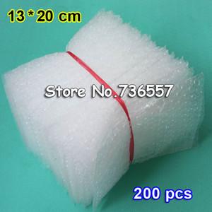 200PCS 13*20cm Plastic Wrap Envelope white Bubble packing Bags PE clear bubble bag Shockproof bag double film