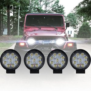 4 x 27W 4inch LED Barra de luz de trabajo Flood Cube Off-Road ATV Truck Lamp Car Spot