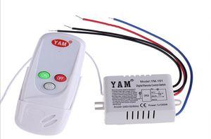 1 Way IR Digital Wireless Remote Control Switch AC110V AC220V Intelligent Remote Controller 12V Single Way Smart Wall Switch for Light Lamp