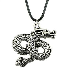 WYSIWYG 5 шт. кожа цепи ожерелья подвески колье воротник мужской ожерелье мода Дракон 45x38mm N6-B13269