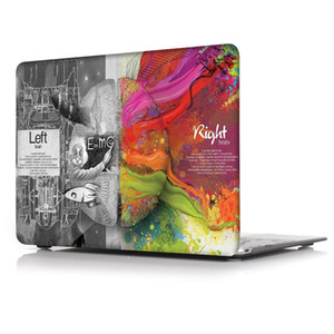 Cérebro-4 caso pintura a óleo para apple macbook air 11 13 pro retina 12 13 15 polegada toque bar 13 15 tampa do laptop shell