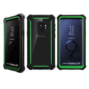 Zırh kılıf Için iphone 9 TPU + PC Şeffaf şeffaf Hibrid Darbeye Arka Kapak LG Stylo 4 MetroPCS Telefon kılıfı B